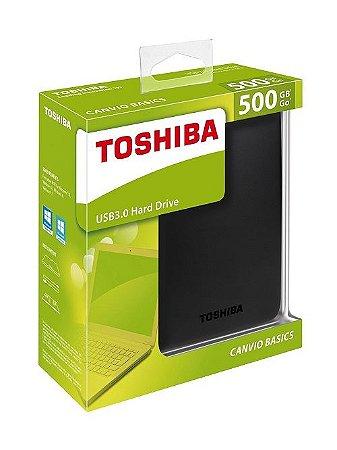 HD EXTERNO TOSHIBA 500GB USB 3.0 - PORTÁTIL