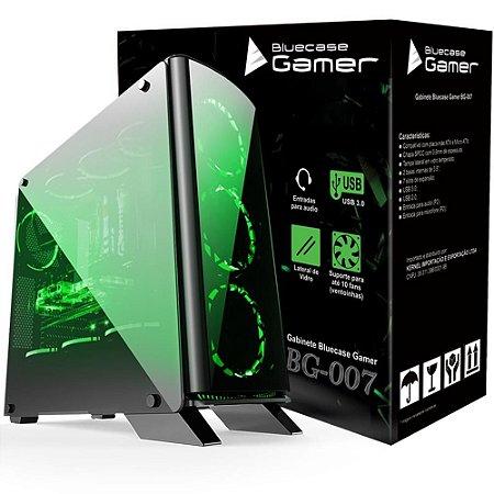 GABINETE GAMER BLUECASE BG-007, USB 3.0 FRONTAL, SEM FONTE