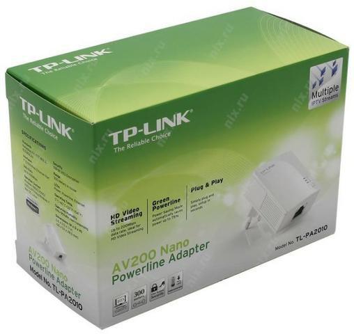 EXTENSOR POWERLINE 200MBPS NANO AV 200 TP-LINK TL-PA2010