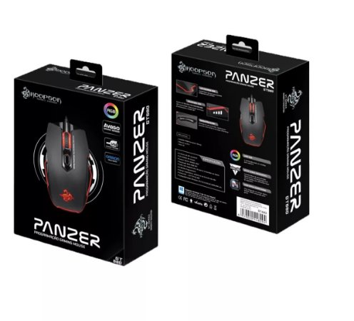MOUSE ÓPTICO HOOPSON PANZER GT680 USB 4000DPI