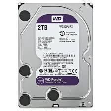 DISCO RÍGIDO 2TB SATA WD PURPLE 5400RPM SURVEILLANCE