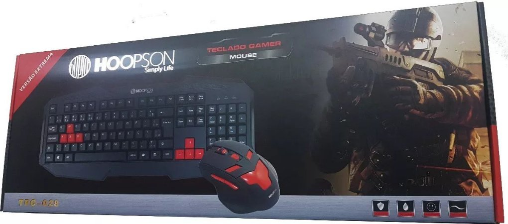 KIT MOUSE TECLADO HOOPSON TPC-028