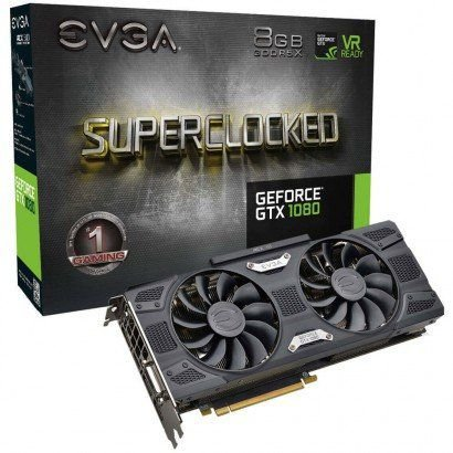 PLACA DE VÍDEO GTX 1080 SUPERCLOCKED 8GB DDR5 256BITS EVGA