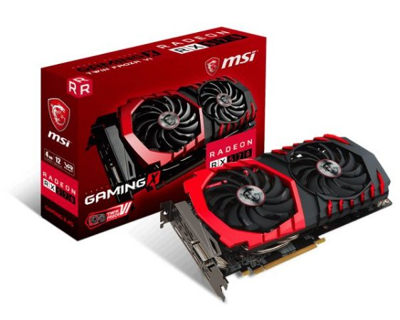 PLACA DE VÍDEO RX 570 4GB DDR5 256BITS MSI
