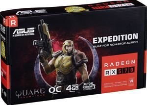 PLACA DE VÍDEO RX 570 4GB DDR5 256BITS ASUS