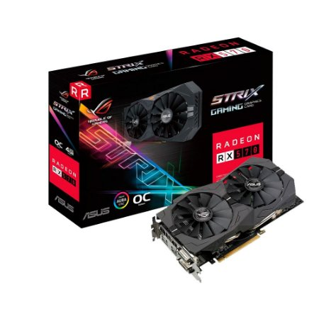 PLACA DE VÍDEO RX 570 STRIX 4GB DDR5 256BITS ASUS