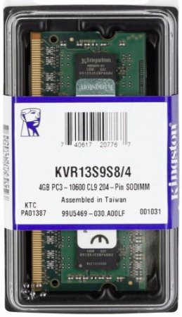 MEMÓRIA 4GB DDR3 1333MHZ KINGSTON - NOTEBOOK