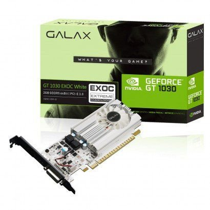 PLACA DE VÍDEO GT 1030 2GB DDR5 64BITS GALAX