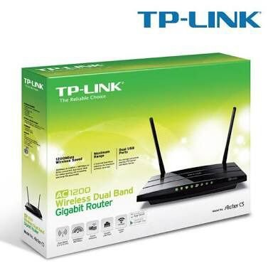 ROTEADOR WIRELESS TP-LINK ARCHER C5 AC1200 DUAL BAND