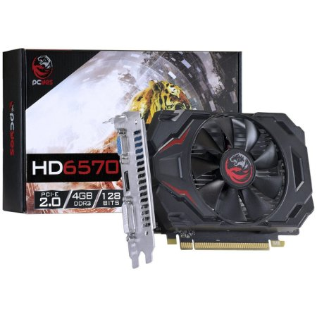 PLACA DE VÍDEO ATI RADEON HD6570  4GB DDR3 128BITS PCYES