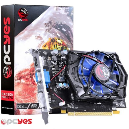 PLACA DE VÍDEO ATI RADEON HD6570  4GB DDR5 128BITS PCYES