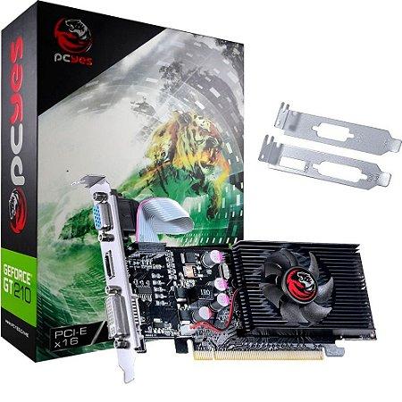 PLACA DE VIDEO GT 210 1GB DDR3 64BITS PCYES