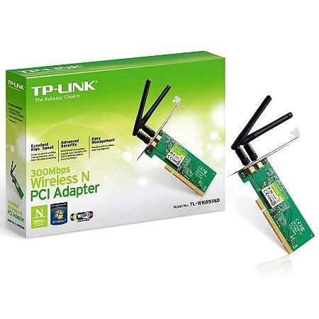 PLACA DE REDE TP-LINK PCI WIRELESS 300MBPS TL-WN851N
