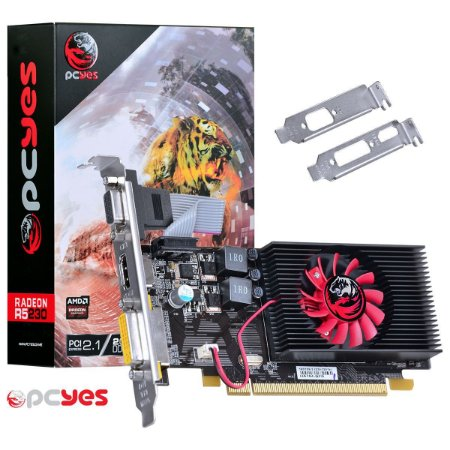 PLACA DE VÍDEO R5 230 2GB DDR3 64 BITS PCYES