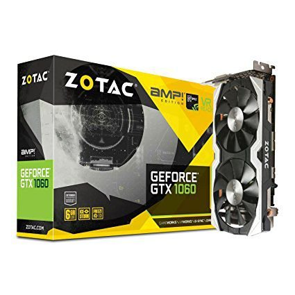 PLACA DE VÍDEO GTX 1060 6GB DDR5 192BITS ZOTAC