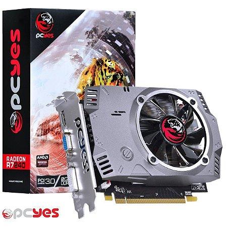 PLACA DE VÍDEO R7 240 2GB DDR5 128BITS PCYES