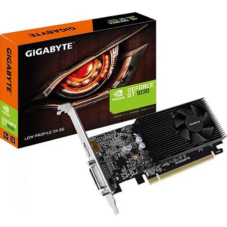 PLACA DE VÍDEO GT 1030 2GB DDR5 64BITS GIGABYTE LOW PROFILE