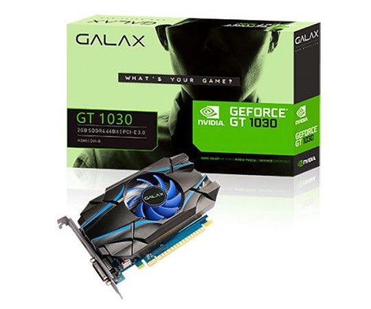 PLACA DE VIDEO GT 1030 2GB DDR4 64 BITS GALAX