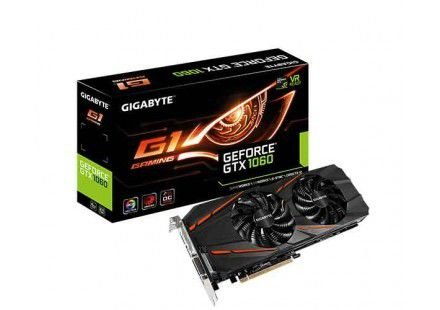 PLACA DE VÍDEO GIGABYTE GEFORCE GTX 1060 6GB G1 GAMING 6G