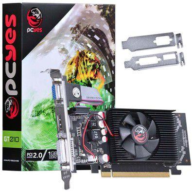 PLACA DE VIDEO GT210 1GB DDR2 64 BITS COM KIT LOW PROFILE INCLUSO