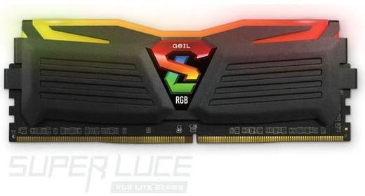 MEMÓRIA 8GB DDR4 2666MHZ GEIL SUPER LUCE RGB