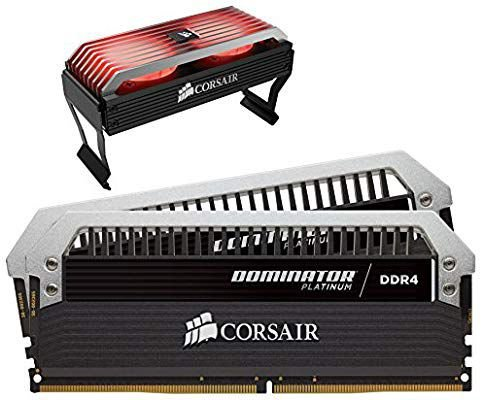 KIT MEMÓRIA CORSAIR DOMINATOR PLATINUM 16GB 3466 MHZ - AIRFLOW FAN RGB