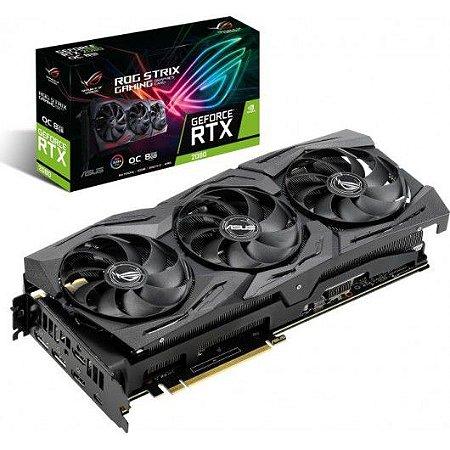 PLACA DE VÍDEO RTX2080 8GB D6 ROG-STRIX-RTX2080-O8G-GAMING ASUS 90YV0C60-M0NA00