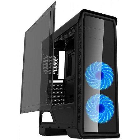 Gabinete Gamer Gamemax Elysium G503X sem Fonte, Mid Tower, USB 3.0, Preto com 3 Fans RGB
