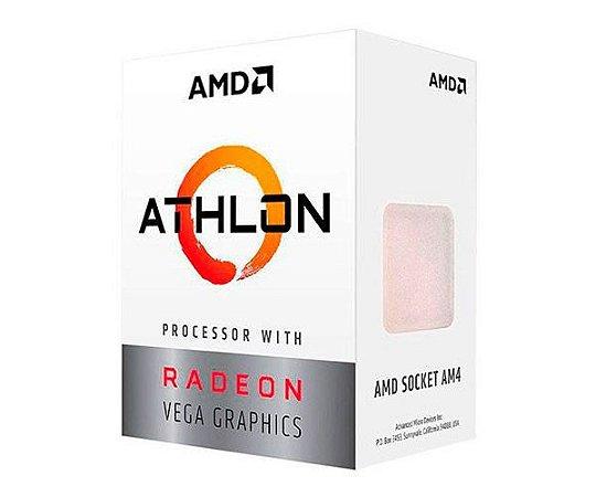 PROCESSADOR AMD ATHLON 200GE 3.2GHZ CACHE 4MB 2 CORE 4 THREADS
