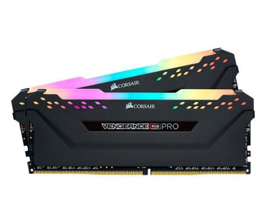 MEMORIA CORSAIR VENGEANCE RGB PRO 16GB (2X8) 2666MHZ DDR4 PRETA - CMW16GX4M2A2666C16