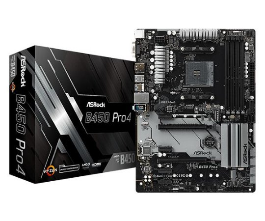 PLACA MÃE ASROCK B450 PRO4 DDR4 SOCKET AM4 CHIPSET AMD B450