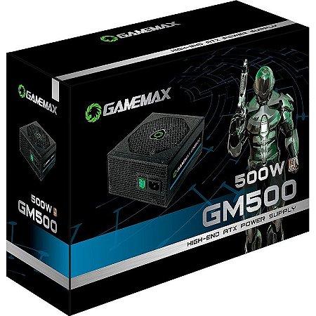 FONTE DE ALIMENTAÇÃO ATX 500W REAIS GM500 GAMEMAX