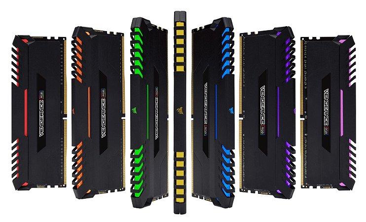 MEMORIA CORSAIR VENGEANCE RGB 16GB (2X8) 2666MHZ DDR4 - CMR16GX4M2A2666C16