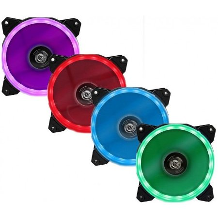 FAN/COOLER HOOPSON PARA GABINETE LED 120X120MM RGB