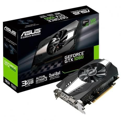 Placa de Vídeo VGA NVIDIA ASUS GEFORCE GTX 1060 3GB GDDR5 PH-GTX1060-3G
