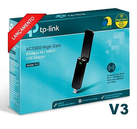 ADAPTADOR WI-FI TP-LINK AC1300 USB DUAL BAND MU-MIMO