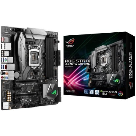 Placa-Mãe ROG STRIX Z370-G GAMING ASUS p/ Intel LGA 1151 mATX DDR4