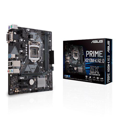 PLACA MÃE ASUS PRIME H310M-K R2.0, Intel LGA-115,1 mATX, DDR4