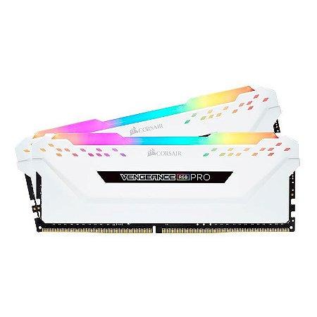 MEMORIA CORSAIR VENGEANCE RGB PRO 16GB (2X8) DDR4 3200MHZ BRANCO
