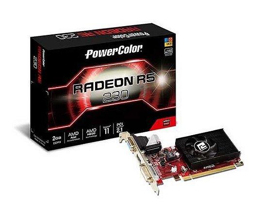 PLACA DE VÍDEO POWERCOLOR RADEON R5 230 2GB, DDR3, AXR5 230 2GBK3-HE