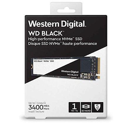 SSD M.2 WD BLACK 1TB NVMe 3400Mb/s WESTERN DIGITAL - WDS100T2X0C-00L350