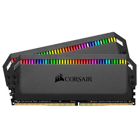 MEMÓRIA CORSAIR DOMINATOR PLATINUM RGB 16GB (2x8 GB), DDR4, 3600MHz, C18 - CMT16GX4M2C3600C18