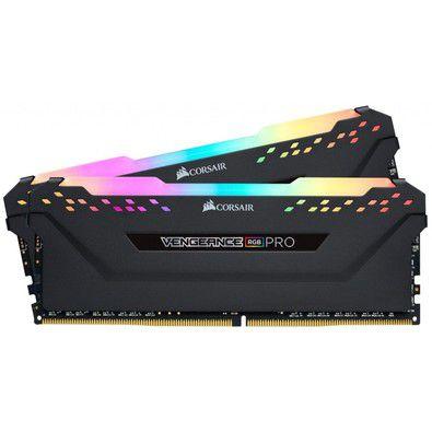 Memória Corsair Vengeance RGB PRO 16GB (2x8GB) 3000Mhz DDR4 PRETO - CMW16GX4M2C3000C15