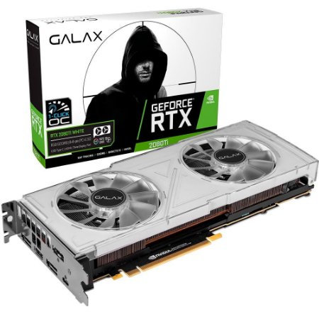 Placa de Vídeo Galax NVIDIA GeForce RTX 2080 Ti White 11GB, GDDR6 - 28IULBUCT4KW