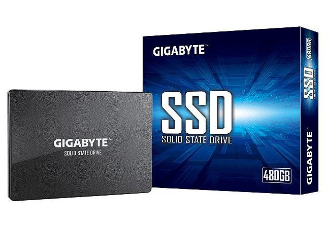 SSD GIGABYTE 480GB SATA, Leitura 500MB/s, Gravação 380MB/s - GP-GSTFS31480GNTD
