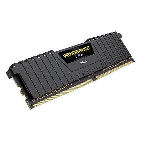 MEMORIA CORSAIR VENGEANCE LPX 8GB (2X4) DDR4 2666MHZ PRETO, CMK8GX4M2A2666C16