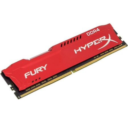 Memória Kingston HyperX FURY 8GB 2666Mhz DDR4 CL16 Red - HX426C16FR2/8