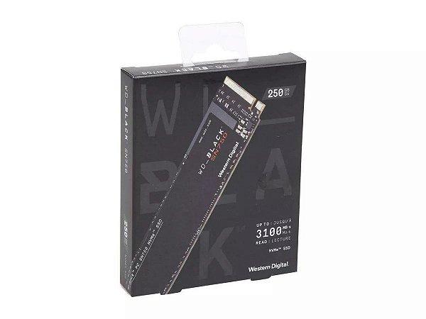 SSD WD BLACK SN750 250GB M.2, Leitura 3100MB/s, Gravação 1600MB/s - WDS250G3X0C
