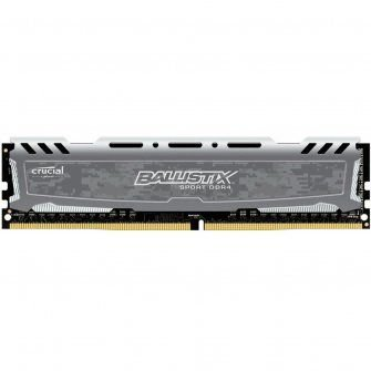 MEMÓRIA CRUCIAL BALLISTIX SPORT 4GB 2666MHZ DDR4, GREY, BLS4G4D26BFSB