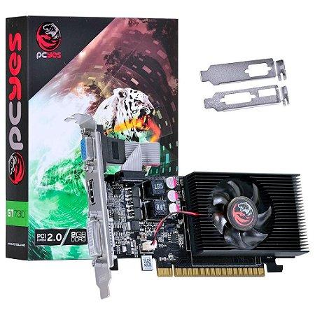PLACA DE VÍDEO PCYES GT 730, 2GB 128 BITS DDR3, PW730GT12802D3LP